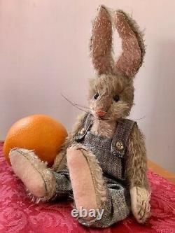 11 Mohair Artist Bunny Par Sue Lain De Memory Lain Bears - Super Cute - Htf