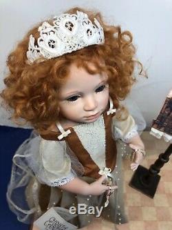 13,5 Ooak Artiste Poupée Flora Porcelaine Christa Canzio Red Head Spectacle De Marionnettes