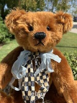 13 Artiste Teddy Bear'barney ' Par Kathleen Wallace Usa- Stier Bears C. 1987 Ooak