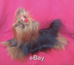 14.5 Artiste Ooak Pose Taille De Vie Capable Yorkshire Chien Chiot Terrier