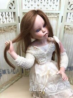 14 Ooak Artiste Porcelain Doll Chloe Limitée Par Monica Montoya Signé Et Coa