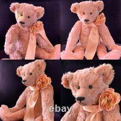 18 Mohair Artist Teddy Bear'shalimar Rose' Par Kathleen Wallace Ooak