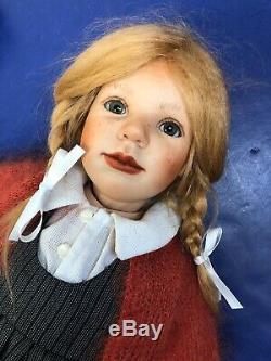 18 Ooak Artiste Porcelain Doll Redhead Maria Barbara Par Prusseitt Marqué