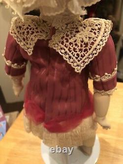 1985 14 1/2 Jumeau Français Bisque Head Doll Par Lynda Et Alan Marx