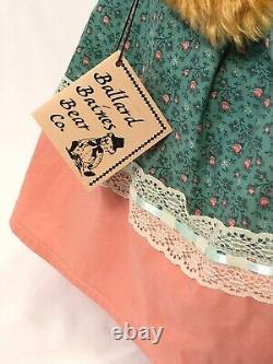 1998 Ballard Bains Annie Ooak Habillé 19 Ours Mohair Commun Avec Étiquettes Charm