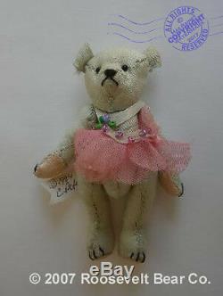 2 Main Miniature Fait Artiste Ooak Teddy W Chaise De Saule Cathy Peterson