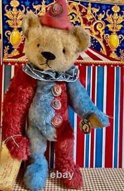 20 Ooak 2021 Gorgeous, Large Harlequin Teddy Bear Clown Par Beardsley Bears