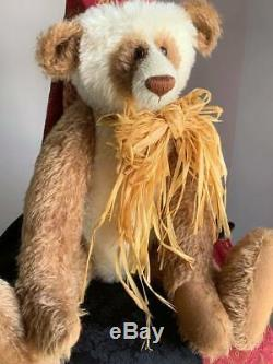 21 Mohair Artiste Panda Ours Ollie Par Kate Berlin - C. 1997 Rare Htf