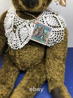 26 Ooak Mohair Brown Teddybear Emma Par Heidi Steiner Handmade With Coa Tag #l