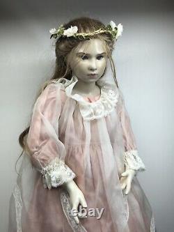 27 Artist Made Doll Par Brigitte Deval Virginia 57/250 Wax Over Porcelain Girl S