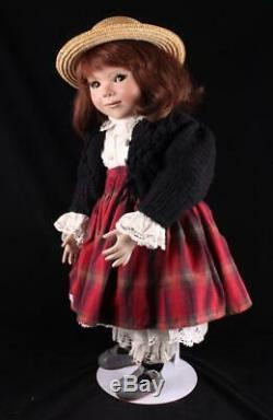 28 Julia Doll Allemande Par L'artiste Inge Enderle Porcelaine Red Hair Le 2/45 1992