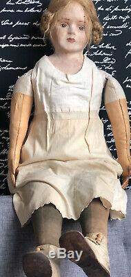 36 Ooak Papier-mâché Artiste Doll Antique Peint Original Face
