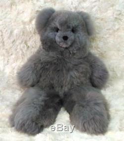 37 Gris En Peluche Teddy Bear Alpaga. 100% Baby Alpaga. 37 Pouces De Hauteur. Toy Main