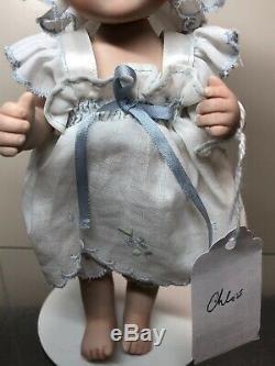 6.5 Artiste Porcelain Doll Chloe Par Gail Creech 1 De 5 Blonde Bébé 2004 Coa S