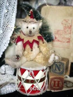 8.6 (22cm) Mohair Artist Teddy Bear- Julius- Par Nataliya Kholodenko- Ooak