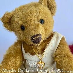 9 Mohair Artist Bear Cora Par Marsha Dehaven Of Dehaven Originals 1994