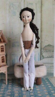 9 Queen Anne Inspired Hand Carved Wood Ooak Art Doll Par Hitty Artists A&h