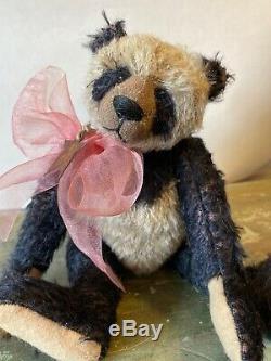 9 Teddy Bear Panda Mohair Par Frances Harper D'apple De Mon Artiste Eye Signé Ours