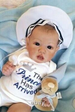 A Custom Reborn Babyaward Gagner Artiste & Art Doll Saskia Par Priscilla Anne