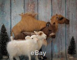 Aiguille De Noël Felted Crèche Chameau Âne Chèvre Mouton Art Laine Animale