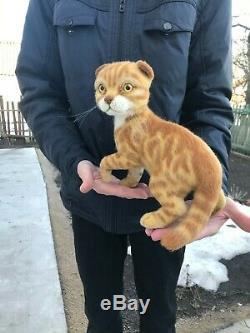 Aiguille-laine Feutrées Main-ooak-red Cat