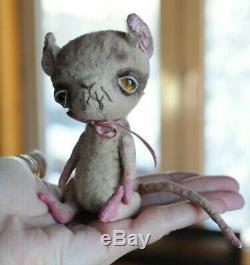 Art Creepy Bjd Poupée Cat Animal En Peluche Chaton Poseable