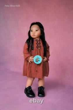 Art Enfant Poupée Reborn Réaliste Ethnique Par L'artiste Prototype Anna Sheva Iiora