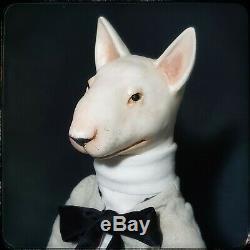 Art Poupée À La Main Par Une Poupée En Mouvement Artiste Poupée En Céramique Ooak Chien Bull Terrier