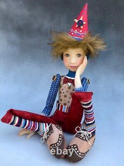 Artist Doll Boy Par Dianne Adam Ash Blond Cheveux Freckles Wing Tip Chaussures Ooak