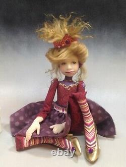 Artist Doll Par Dianne Adam Blond Hair Princess Crown Ooak