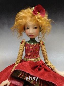 Artist Doll Par Dianne Adam Red Hair Freckles Red Shoes Ooak