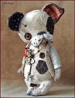Artiste Alla Bears Old Antique Chiot Art Poupée Décor Animal Garçon Ooak