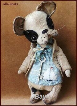 Artiste Alla Bears Ooak Antique Art Chiot Bjd Poupée Jouet Décoration Animal Garçon Ami Japon