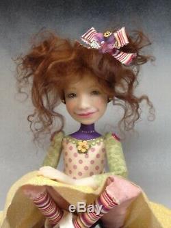 Artiste Doll Foncé Auburn Hair Big Shoes Ooak