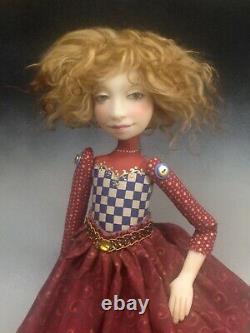 Artiste Doll Queen Auburn Hair Red Shoes Ooak