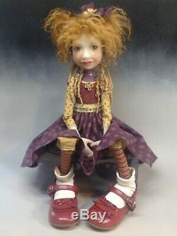 Artiste Doll Red Hair Freckles Big Shoes Ooak