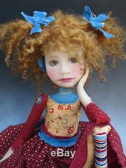 Artiste Doll Red Hair Freckles Red Shoes Ooak