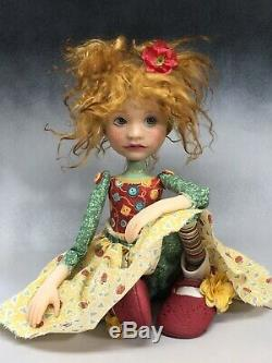 Artiste Doll Red Hair Pig Tails Freckles Chaussures Rouge Ooak