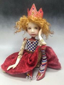 Artiste Doll Red Hair Princess Crown Red Shoes Ooak