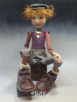 Artiste Doll Red Hair Rousseur Boy Chaussures Vintage Ooak