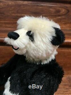 Artiste Panda Teddy Bears Claudia Wagner Mohair Gueule Ouverte Trapunto 14 Le / Ooak