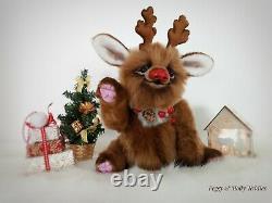 Artiste Teddy Ours Noël Rudolph Reindeer