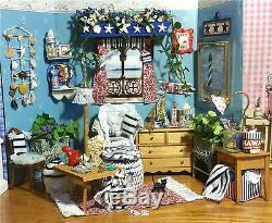 Beach House Ooak Artiste Salon Seashell Dollhouse 112 Miniature 52pc Set