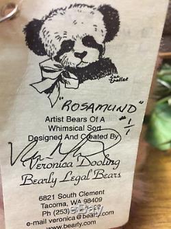 Brand New Oak Main Mohair Artiste Ours Par Veronica Dooling