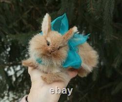 Bunny / Lapin / Miniature Réaliste Feutrée / Pâte De Sculpture Par Yana Fedorova