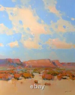 Canyon Road, Peinture À L'huile D'origine Grandes Oeuvres Faites À La Main Une Des Sortes