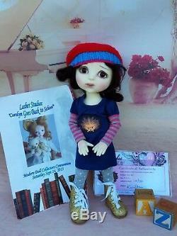 Caroline Artiste Kim Lasher Résine Face Dessus Bjd 12 Doll Ami À Wiggs Promber