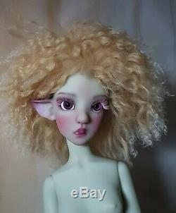 Chardon Kaye Wiggs Artiste Résine Sd Bjd Face Dessus Doll Gris