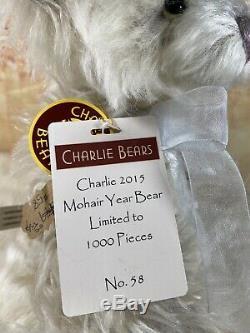 Charlie Mohair 2015 Année Ours Isabelle Lee 13 Pouces U. S Nouveau Vieux Stock