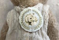 Charme Antique Style Ooak Main Mohair Ours En Peluche Par Vivianne Galli